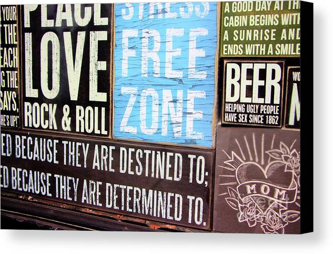 Metal Prints Canvas Print featuring the photograph Stress Free Zone by Dorothy Hilde