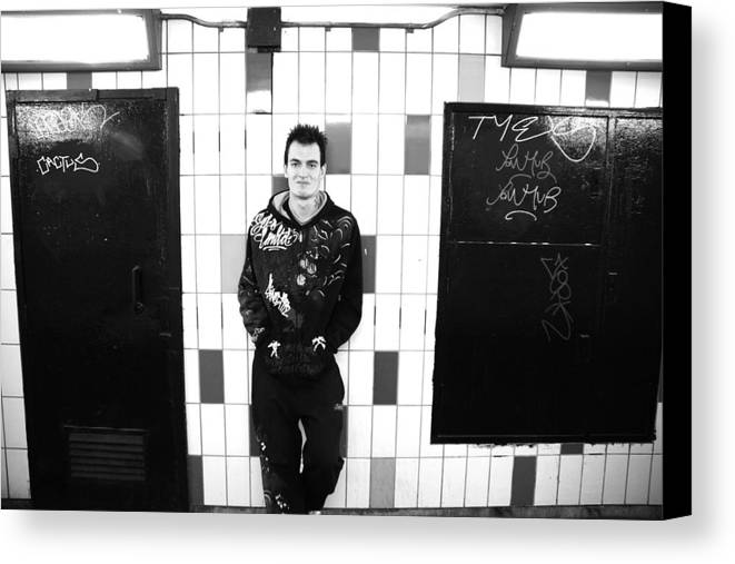 Canvas Print featuring the photograph Subway by Jez C Self