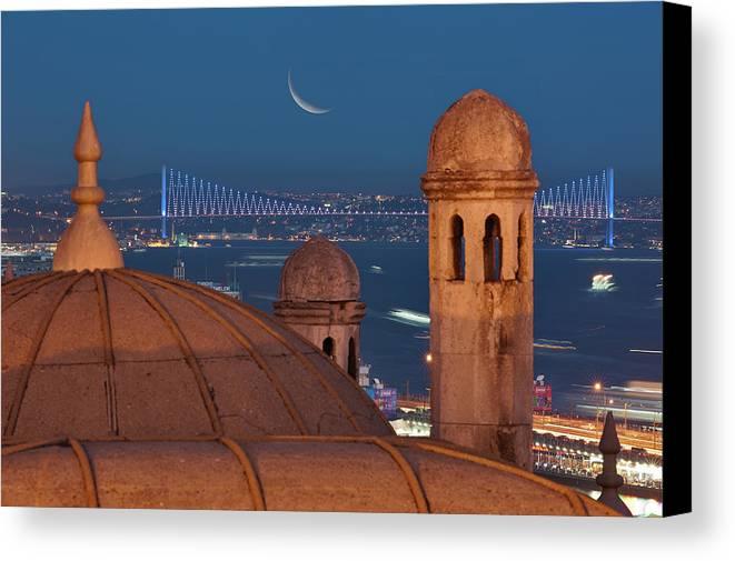 Horizontal Canvas Print featuring the photograph Suleymaniye by Salvator Barki