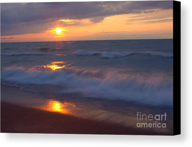 Grand Bend Canvas Print featuring the photograph Summers Breath 4 by John Scatcherd