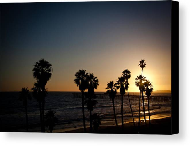 San Clemente Canvas Print featuring the photograph Sun Going Down In California by Ralf Kaiser