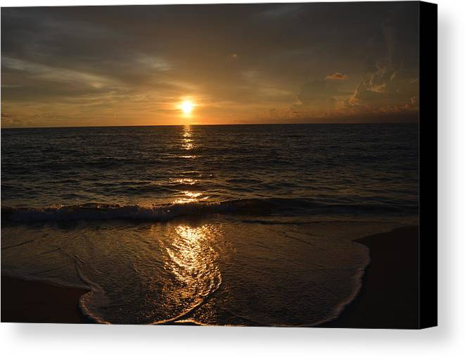 Sunrise Canvas Print featuring the photograph Sunday Morning by Rosanne Ricard