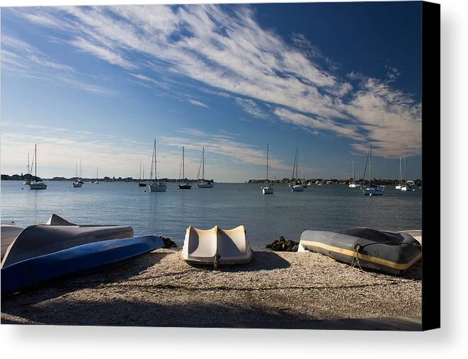 Marina Jacks Canvas Print featuring the photograph Sunrise At The Bay by Michael Tesar
