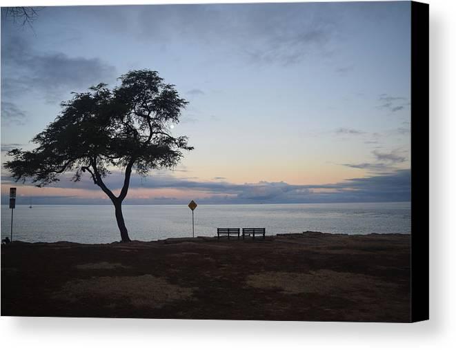 Sunrise Canvas Print featuring the photograph Sunrise, Moonfall by Samantha Peel