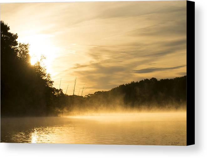 Sunrise Canvas Print featuring the photograph Sunrise Of Fire by Jan Mulherin