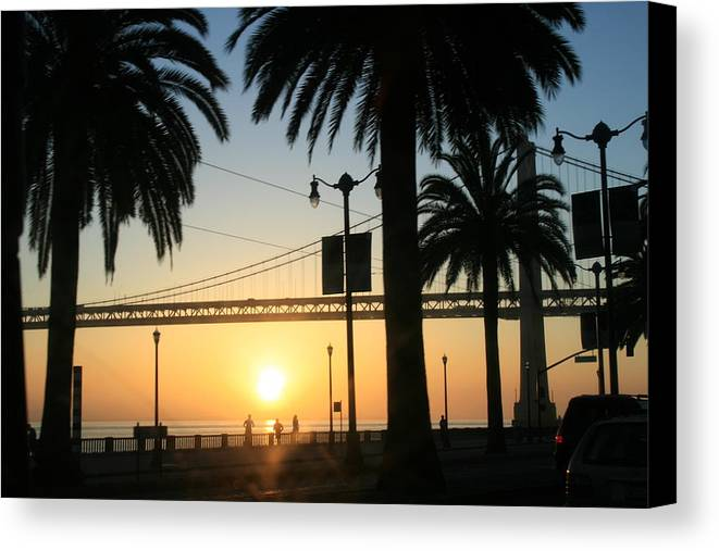Morning Canvas Print featuring the photograph Sunrise On The Bay by Joshua Sunday