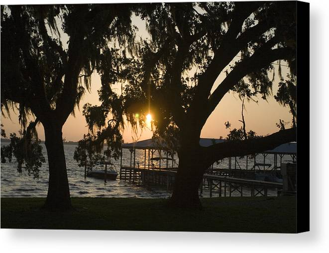 Horizontal Canvas Print featuring the photograph Sunset In Central Florida by Christopher Purcell