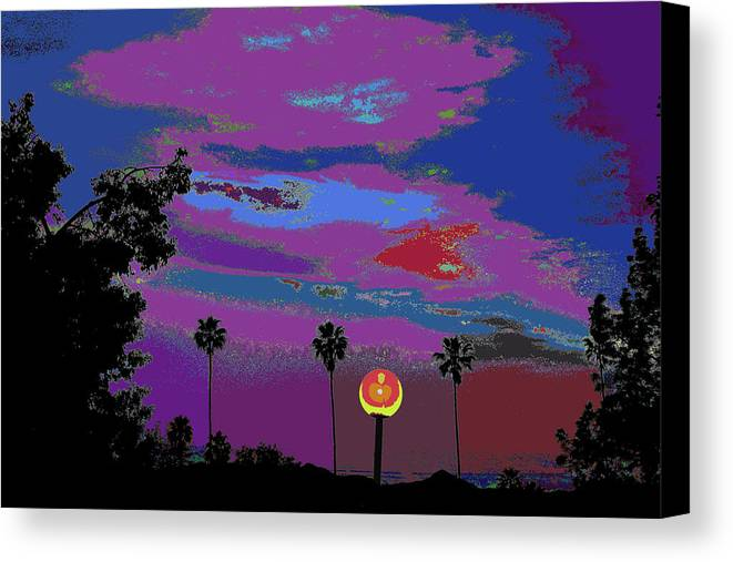 Find U'r Love Found Canvas Print featuring the photograph Sunset In Your Colorful Moon by Kenneth James