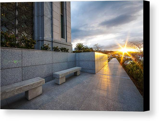 Landscape Canvas Print featuring the photograph Sunset by Luis Santos Ochoa Duron