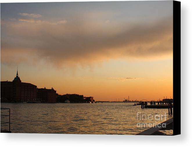 Venice Canvas Print featuring the photograph Sunset On The Edge Of Venice by Michael Henderson
