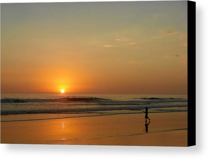 Pacific Canvas Print featuring the photograph Sunset Over La Jolla Shores by Christine Till