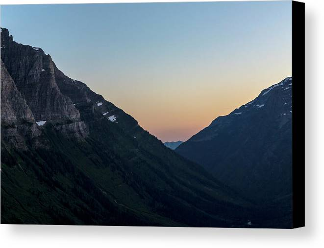 Gnp Canvas Print featuring the photograph Sunset Over Logan Pass by Craig Tata
