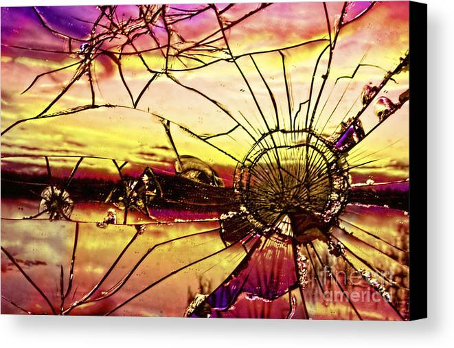 Sunset Canvas Print featuring the digital art Sunset by Pete Vander Velde