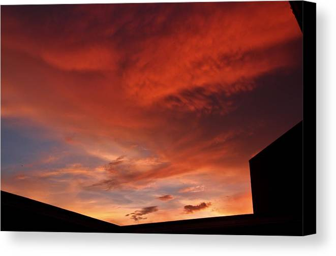 Sunset Canvas Print featuring the photograph Sunset Silhouette by Benji Alexander Palus