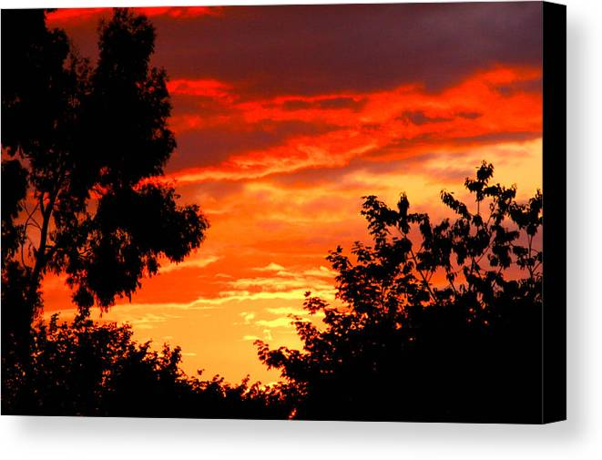 Nature Canvas Print featuring the photograph Sunset Sky by Anthony Brito