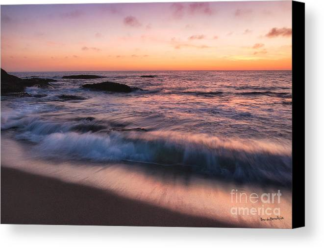 Beach Canvas Print featuring the photograph Sunset Surf by Brandon Bonafede