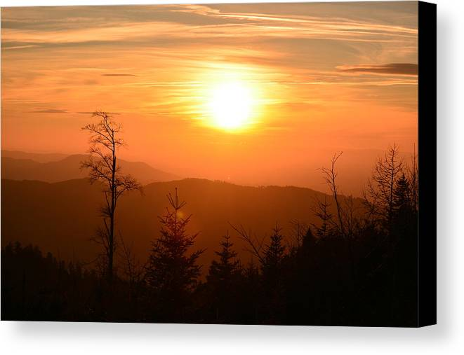 Sunsets Canvas Print featuring the photograph Sunset by Valeriu Bucos