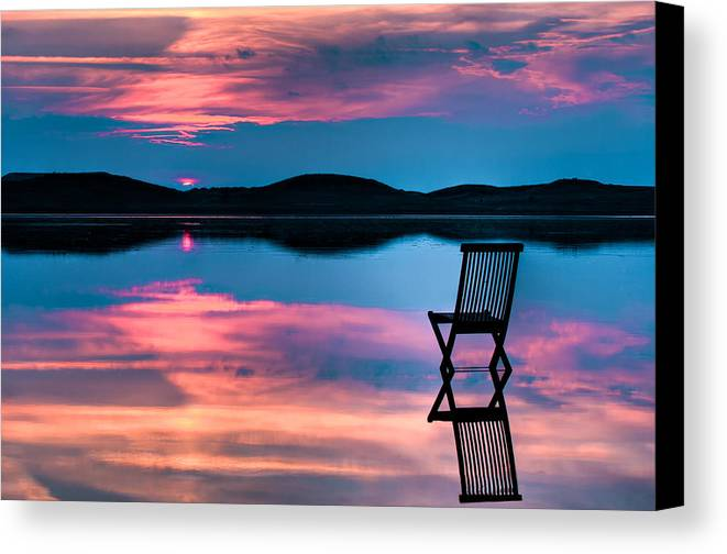 Background Canvas Print featuring the photograph Surreal Sunset by Gert Lavsen