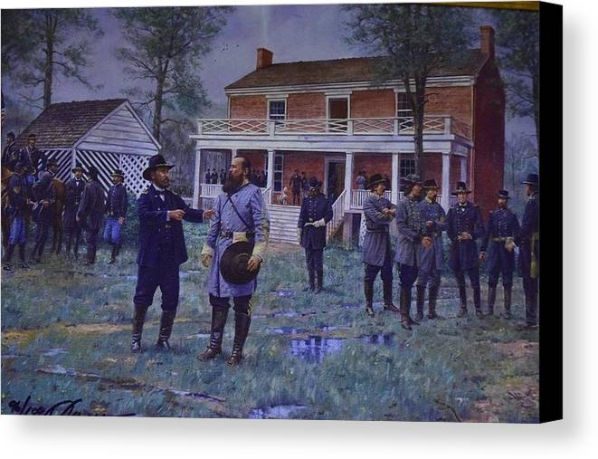 Grant Canvas Print featuring the photograph Surrender by Eleni Salony