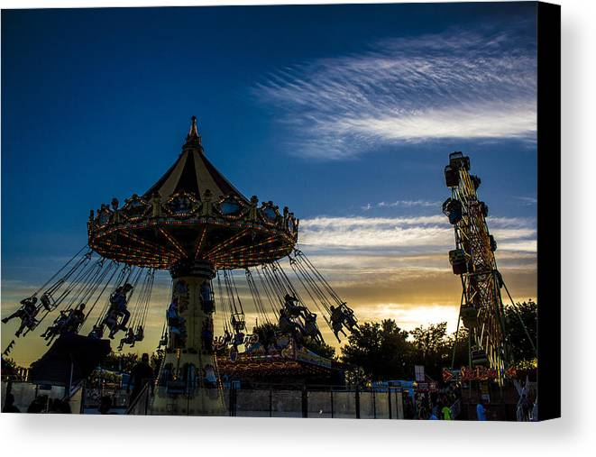 Canvas Print featuring the photograph Swingin Sunset by Reed Tim