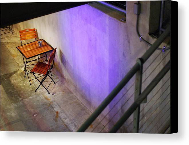 Cafe Canvas Print featuring the photograph Table For Two by Jill Reger
