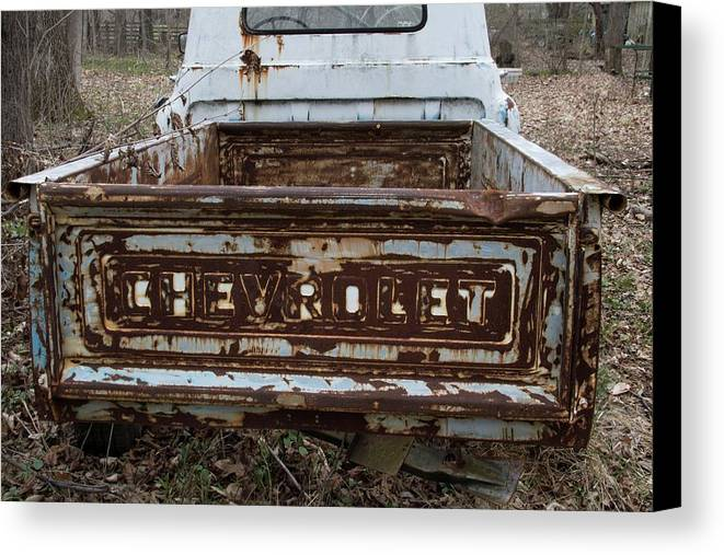 Digital Canvas Print featuring the photograph Tailgate by Jeff Roney