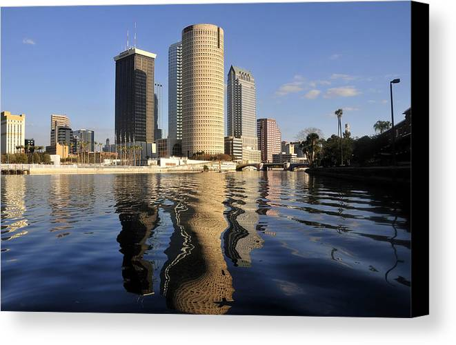 Tampa Bay Florida Canvas Print featuring the photograph Tampa Florida 2010 by David Lee Thompson