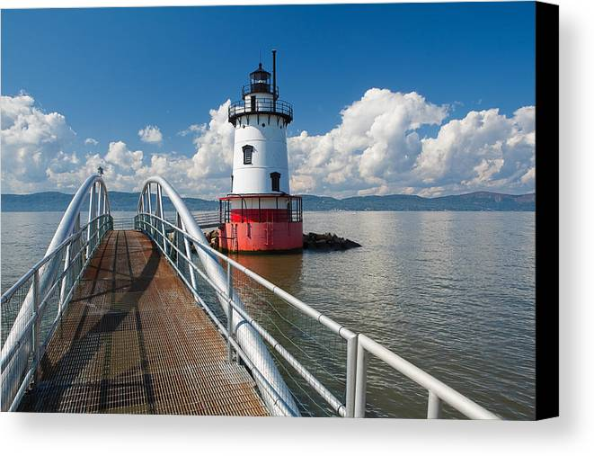 Coastal Canvas Print featuring the photograph Tarrytown Lighthouse Hudson River New York by George Oze