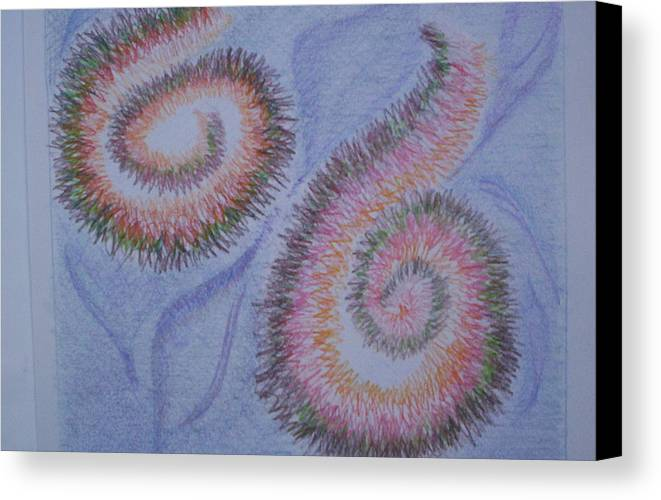 Abstract Canvas Print featuring the drawing Teach Me by Suzanne Udell Levinger