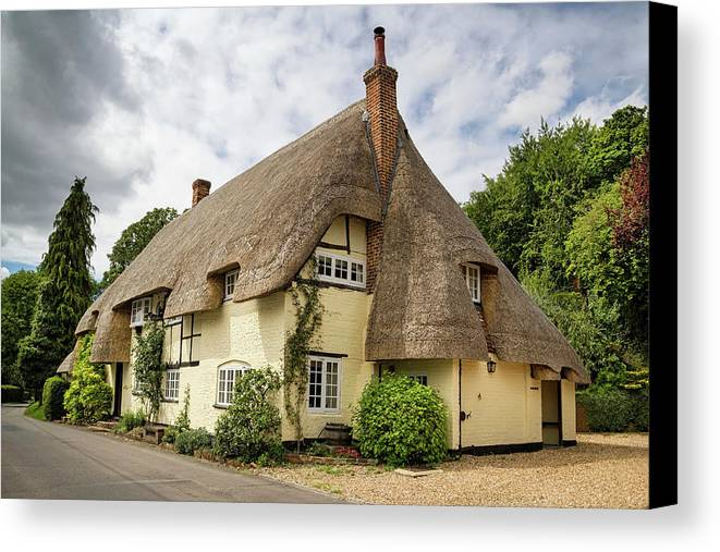 Cottage Canvas Print featuring the photograph Thatched Cottages Of Hampshire 18 by Shirley Mitchell