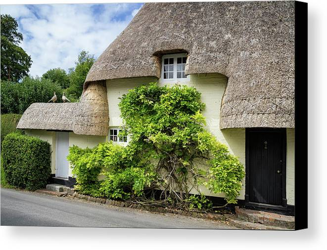 Cottage Canvas Print featuring the photograph Thatched Cottages Of Hampshire 19 by Shirley Mitchell
