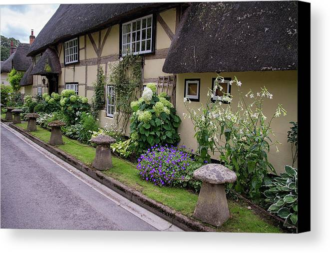 Cottage Canvas Print featuring the photograph Thatched Cottages Of Hampshire 24 by Shirley Mitchell