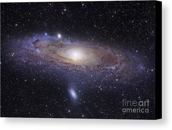 Andromeda Canvas Print featuring the photograph The Andromeda Galaxy by Robert Gendler