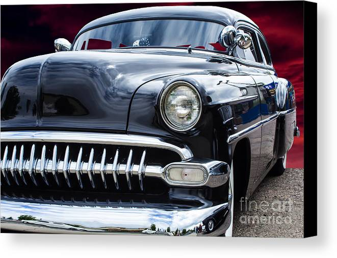 1954 Canvas Print featuring the photograph The Black 54 by Steven Parker