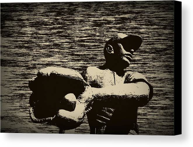 Baseball Canvas Print featuring the photograph The Catch by Bill Cannon