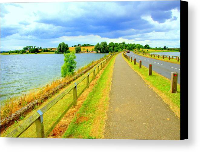 Causeway Canvas Print featuring the photograph The Causeway by Gordon James