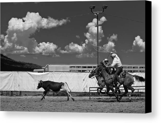 Calf Canvas Print featuring the photograph The Chase For Time by Scott Sawyer