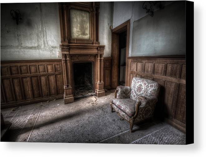 Decay Canvas Print featuring the digital art The Duchess Chair by Nathan Wright