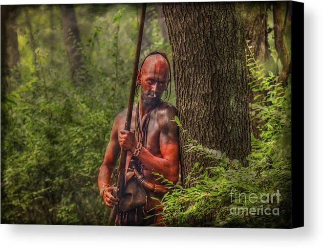 The Forest Has Eyes Bushy Run Canvas Print featuring the digital art The Forest Has Eyes Bushy Run by Randy Steele