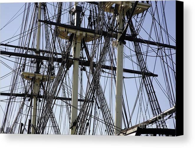 Salem Canvas Print featuring the photograph The Friendship Of Salem Tall Ship In Salem Massachusetts Usa by Erin Paul Donovan