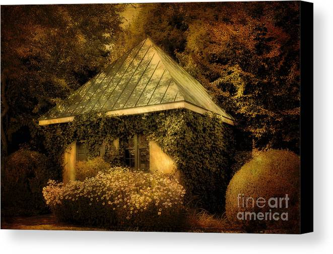 Gatehouse Canvas Print featuring the photograph The Gatehouse by Lois Bryan