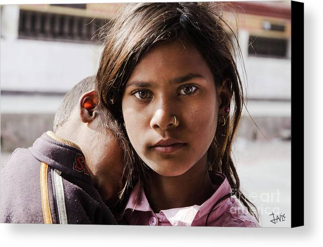 Eyes Canvas Print featuring the photograph The Good Sister by Javier Sanchez de la vina