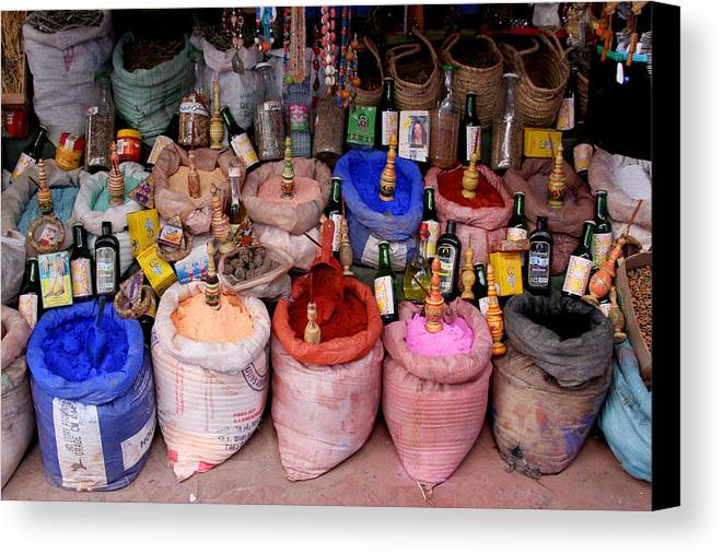 Chaouen Canvas Print featuring the photograph The Goods by Jason Hochman