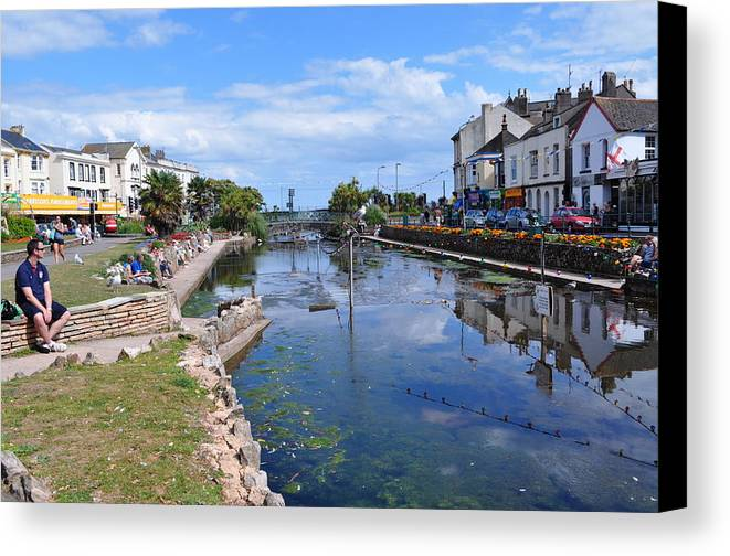 Dawlish Canvas Print featuring the photograph The Lawn by Andrea Everhard
