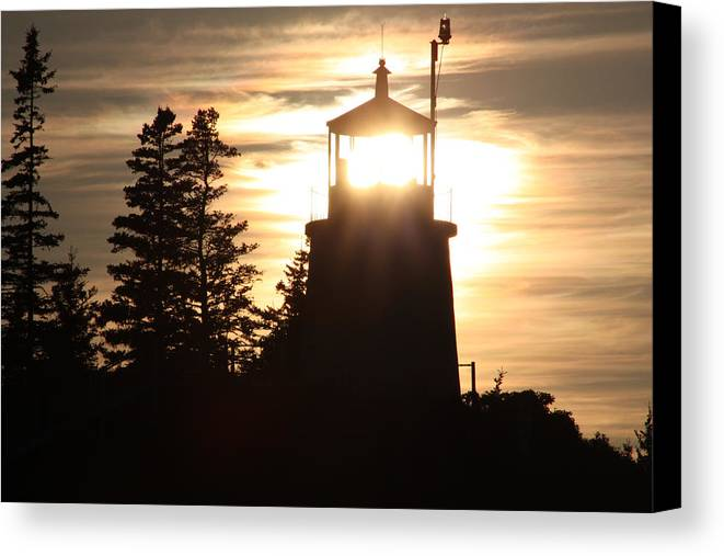 Lighthouse Canvas Print featuring the photograph The Light Within by Becca Brann