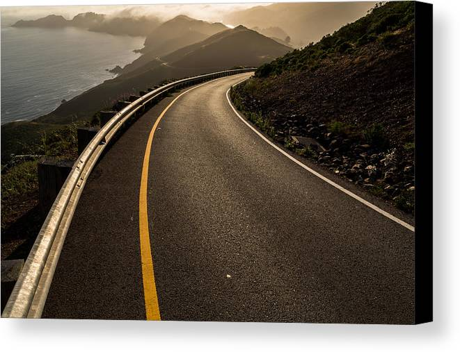 Marin Canvas Print featuring the photograph The Long And Winding Road by John Daly