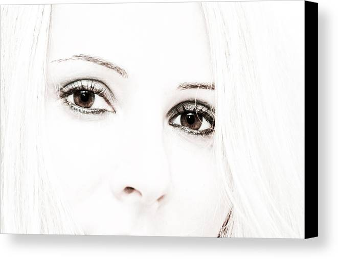 Eyes Canvas Print featuring the photograph The Look by Buta Gabriel