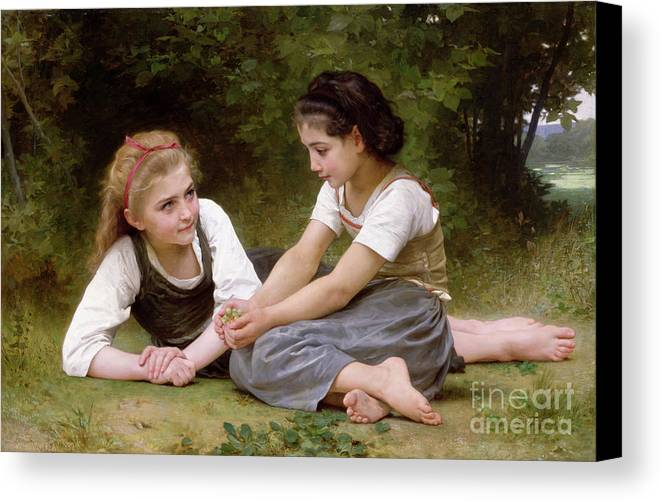 Nut Canvas Print featuring the painting The Nut Gatherers by William-Adolphe Bouguereau