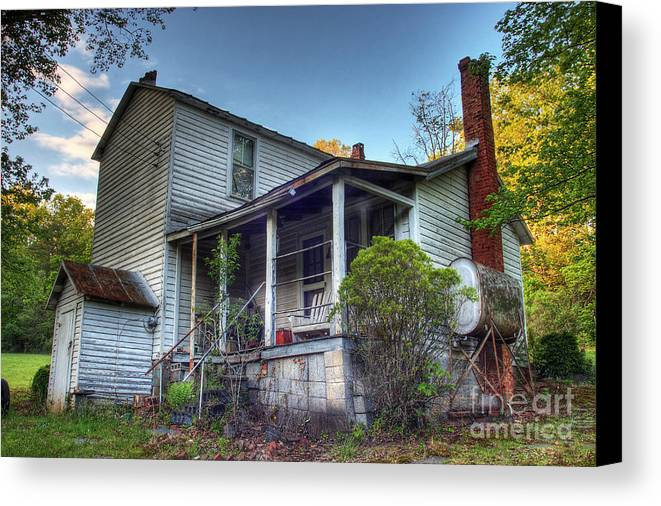 Landscape Canvas Print featuring the photograph The Old Home Place by Pete Hellmann