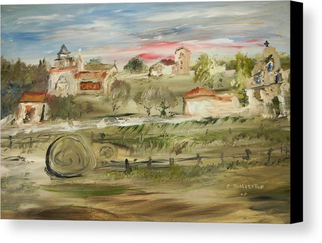 Landscape Canvas Print featuring the painting The Old Mission by Edward Wolverton